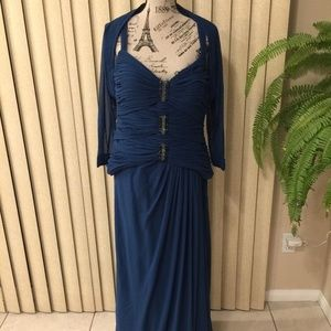 DAYMOR COUTURE TEAL MOB/FORMAL GOWN/JACKET SIZE 16